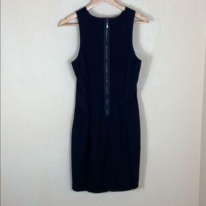 Euc H&M bodycon exposed zipper black dress 12